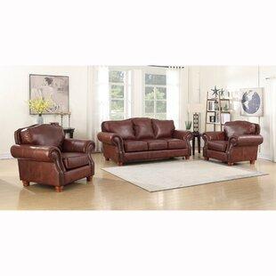 Vranduk Genuine Leather Living Room Set by Canora Grey