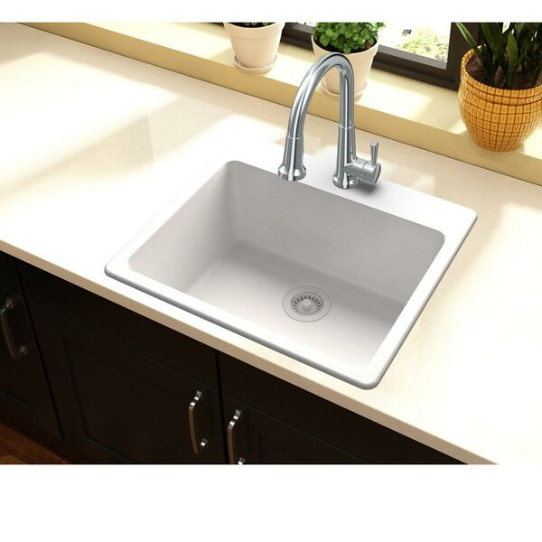 Quartz Classic 25 L x 22 W Drop-In Kitchen Sink by Elkay
