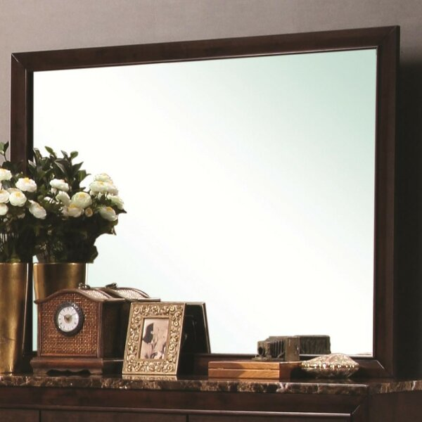 Hooley Overmantel Mirror with Wooden Frame by Winston Porter
