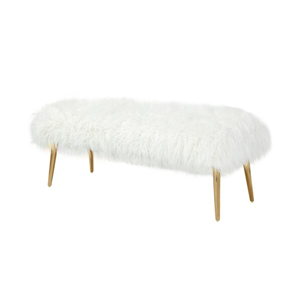 Lammy Upholstered Bench by Bungalow Rose