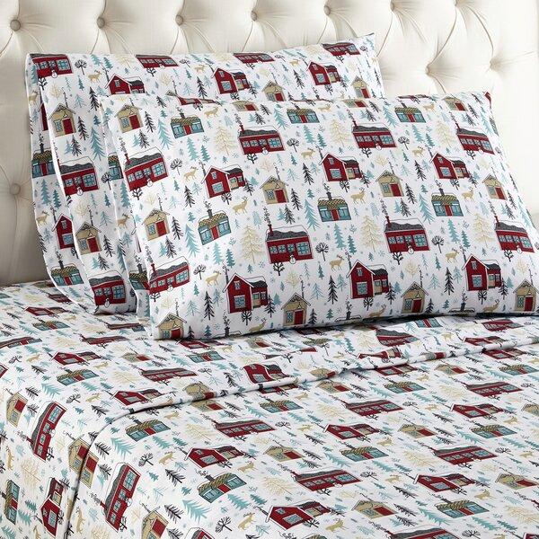 Buchholtz Cabins Flannel Sheet Set by Alcott Hill