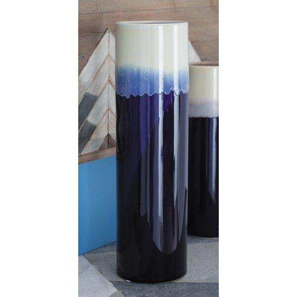 Markey Glazed Cylindrical Table Vase by Bloomsbury Market