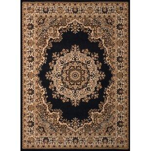 Where buy  Dallas Floral Kirman Black Area Rug ByUnited Weavers of America