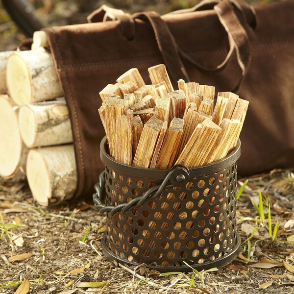 Iron Fatwood Caddy by Birch Lane™