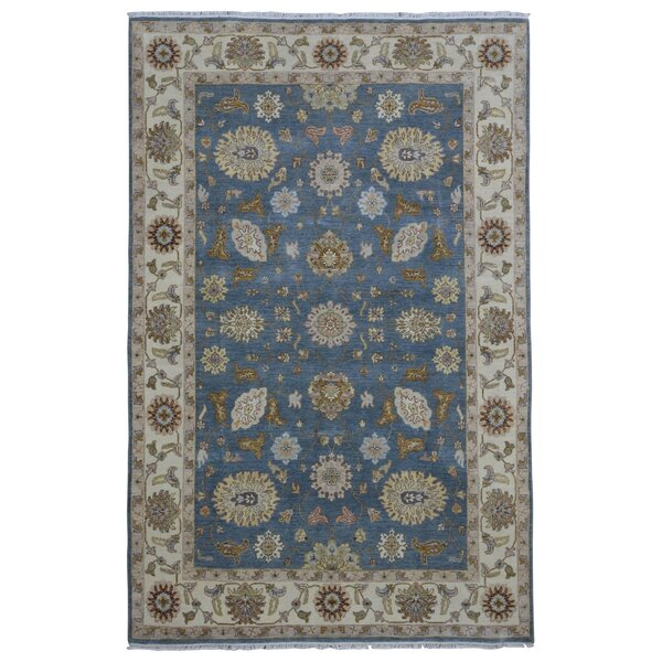 One-of-a-Kind Baron Oriental Hand-Woven Wool Blue Area Rug by Darby Home Co