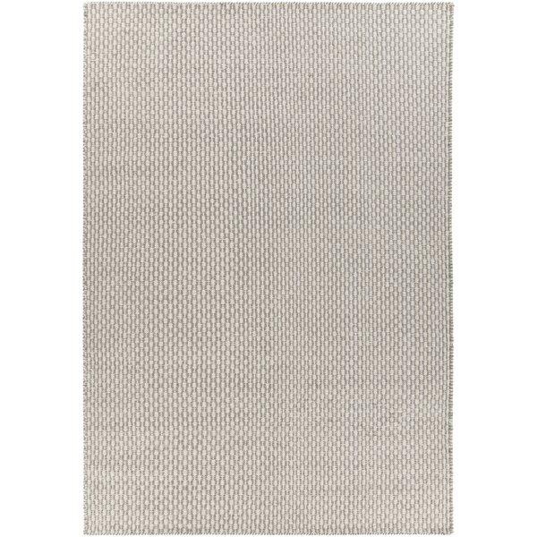 Charity Hand-Woven Gray/White Area Rug by Corrigan Studio