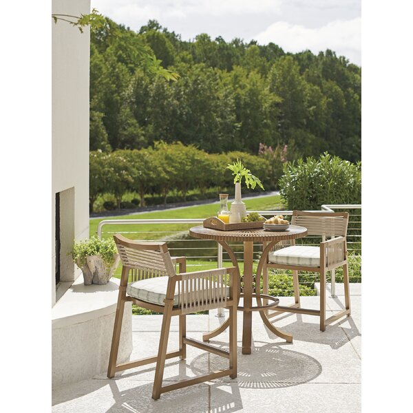 St Tropez 3 Piece Teak Bistro Set with Cushions