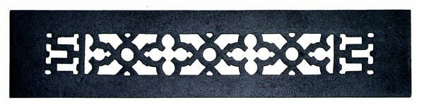 2.25 x 14 Iron Grille in Black by Acorn