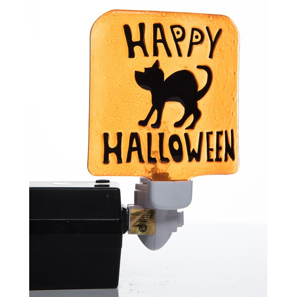 Ralph Halloween Ghost and Black Cat 2 Piece Night Light Set by The Holiday Aisle