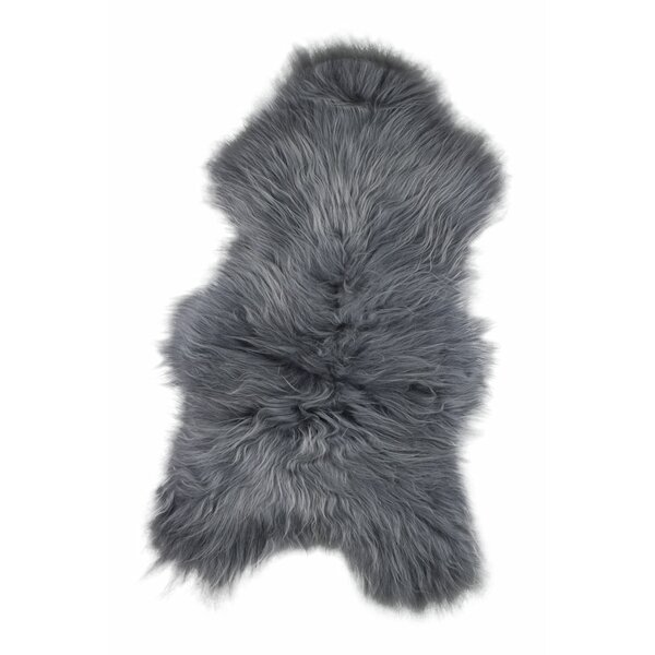 Oglesby Sheepskin Gray Area Rug by Union Rustic