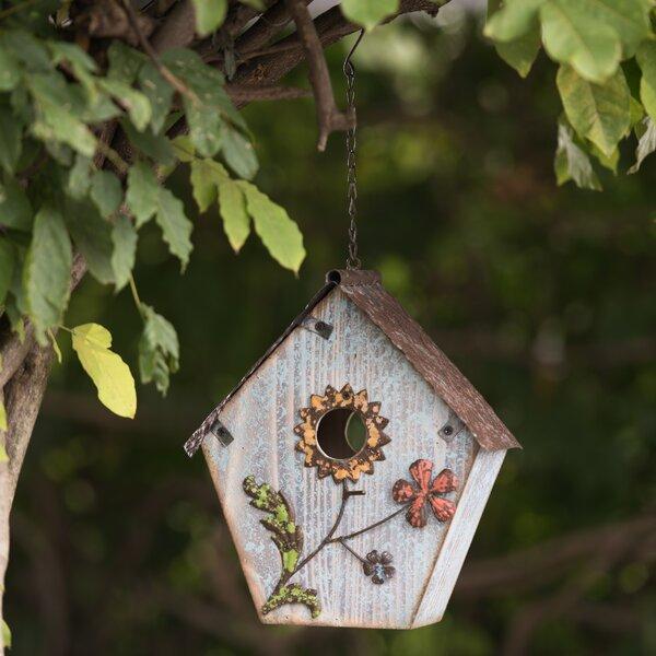 Flower 21.5 in x 11 in x 6 in Birdhouse by Sunjoy