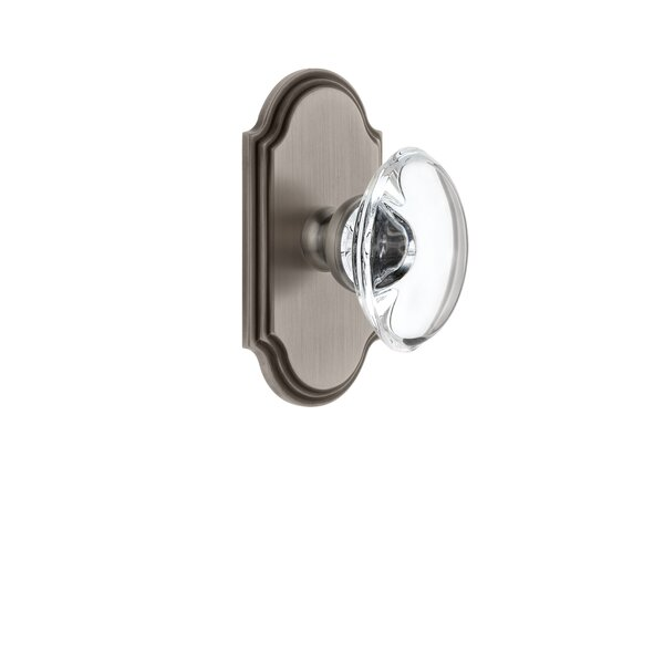 Provence Double Dummy Door Knob with Arc Rosette by Grandeur
