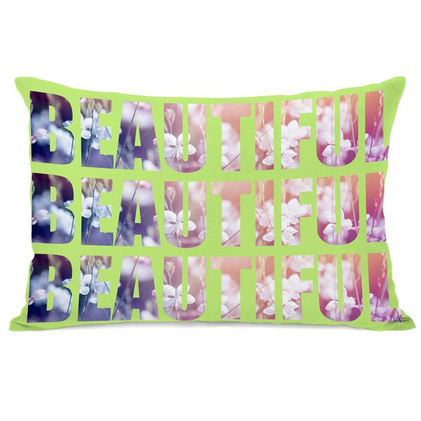 Beautiful Flowers Lumbar Pillow by One Bella Casa
