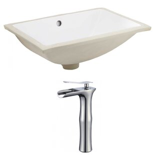 Find a CUPC Ceramic Rectangular Undermount Bathroom Sink with Faucet and Overflow ByRoyal Purple Bath Kitchen