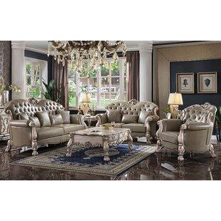 Gimley 3 Piece Button Tufted Living Room Set by Rosdorf Park