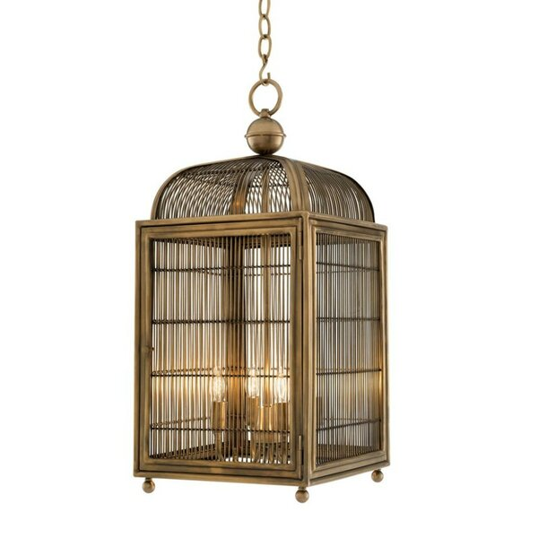 Falcon 4 - Light Lantern Rectangle Chandelier by Eichholtz Eichholtz