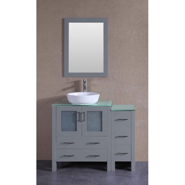 Beason 42 Single Bathroom Vanity Set with Mirror by Bosconi