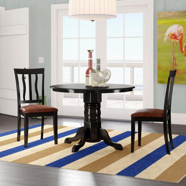 Langwater 3 Piece Pedestal Dining Set by Beachcrest Home