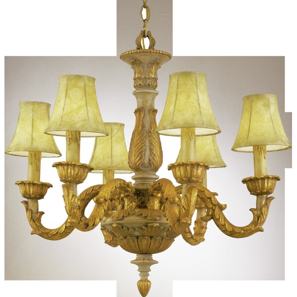 Totten 6 - Light Shaded Classic / Traditional Chandelier by Astoria Grand Astoria Grand