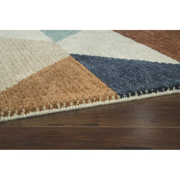 Barboza Brown/Beige Area Rug by George Oliver