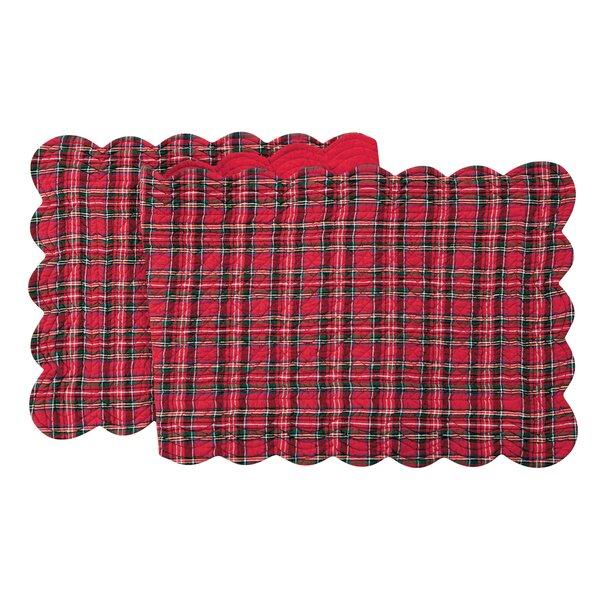 Quilt Scalloped Plaid Runner by C&F Home