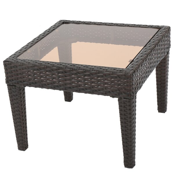 Portola Glass Side Table by Sol 72 Outdoor