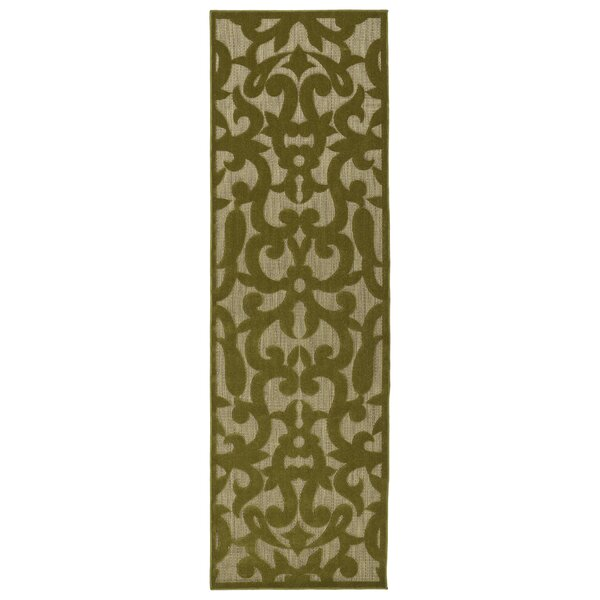 Covedale Machine Woven Olive Indoor/Outdoor Area Rug by Charlton Home