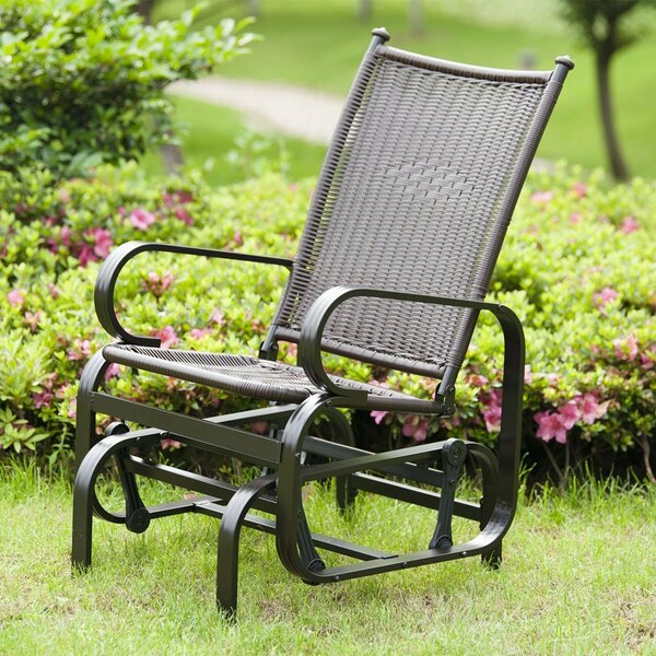 Krish Outdoor PE Wicker Glider Rocking Chair by Bayou Breeze