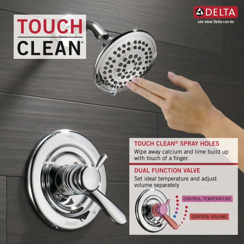 Delta Lahara Tub and Shower Faucet Trim with Lever Handles and ...