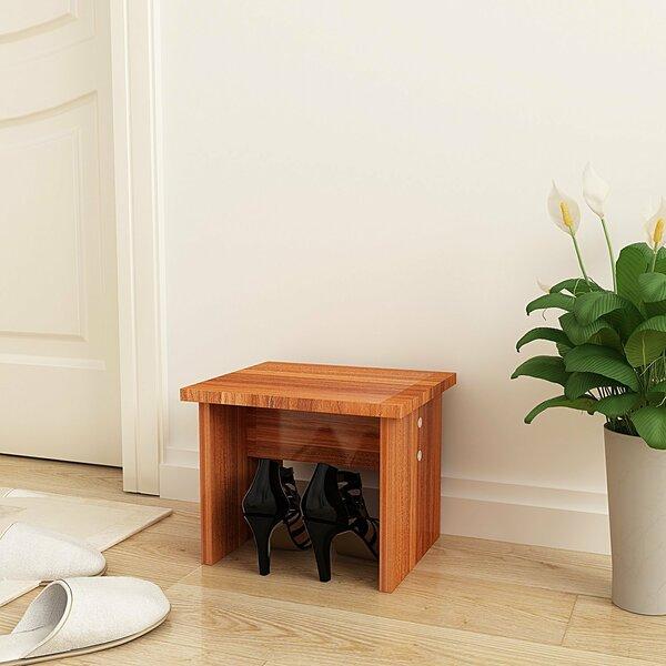 Solid Wood Shoe Footstool