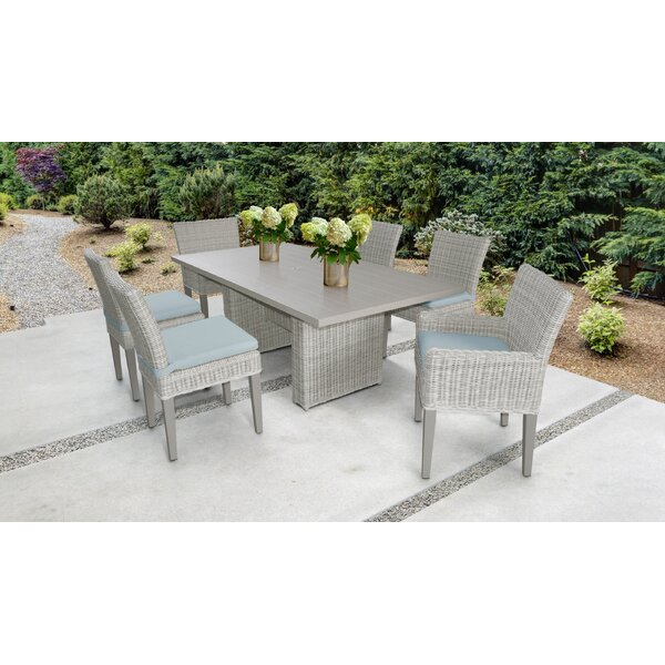 Claire 7 Piece Dining Set with Cushions by Rosecliff Heights