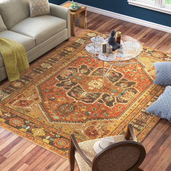 Naranjo Traditional Brown Area Rug by World Menagerie
