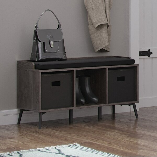 Isoline Upholstered Storage Bench by Union Rustic