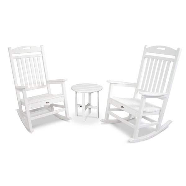 Yacht Club Rocker 3 Piece Seating Group by Trex Outdoor Trex Outdoor