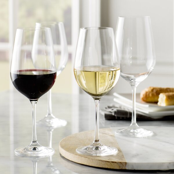 Wayfair Basics 12 Piece White Wine & Red Wine Glas