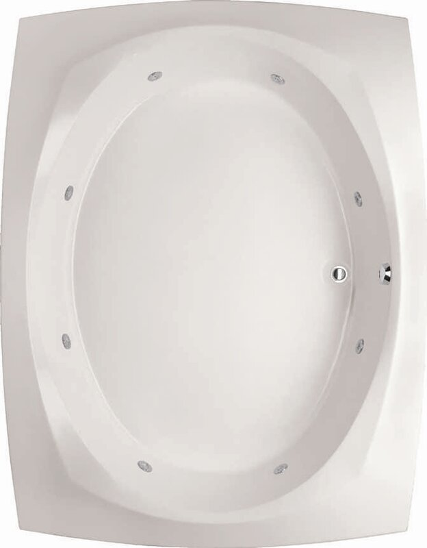"Designer Largo 82"" x 64"" Air Bathtub"