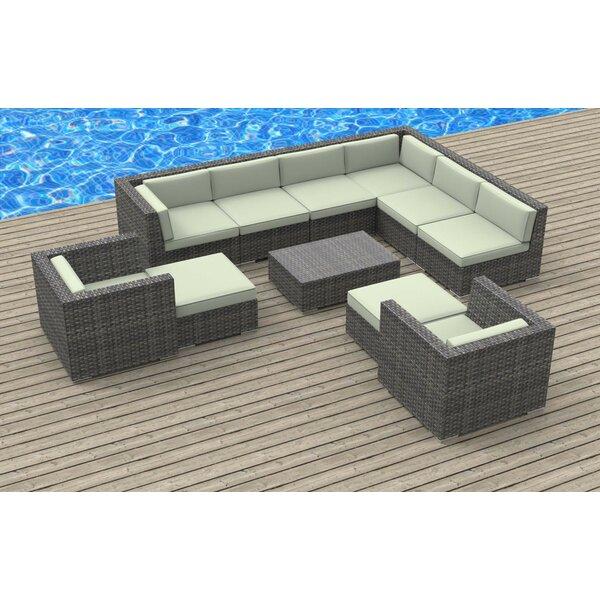 Karla 11 Piece Sectional Set with Cushions Brayden Studio BRAY6289
