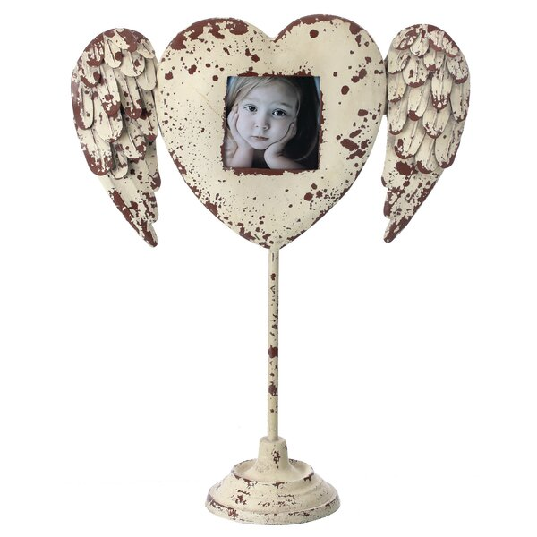 Hower Metal Winged Heart Picture Frame on Stand by Red Barrel Studio