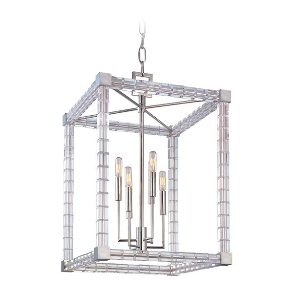 Montauk 6 - Light Candle Style Rectangle / Square Chandelier By Everly Quinn
