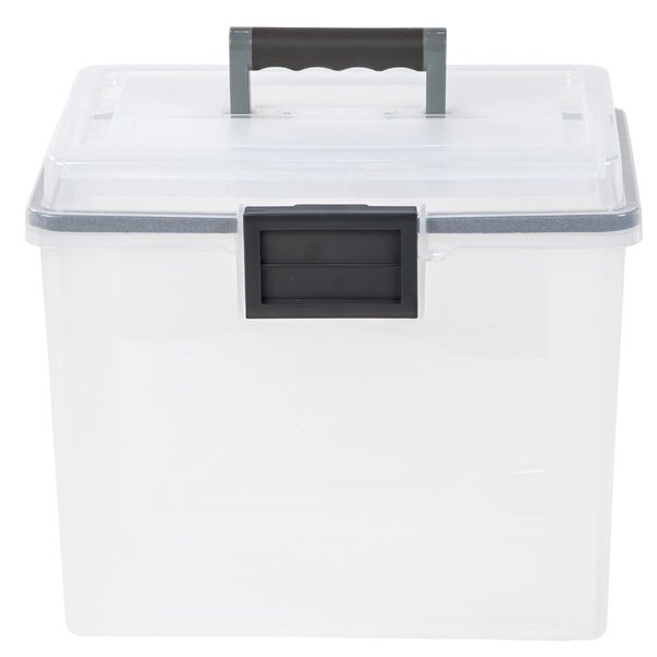 19 Quart Portable Weathertight® File Box (Set of 4) by IRIS USA, Inc.