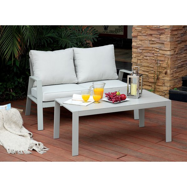 Belleville 2 Piece Conversation Set with Cushions by Rosecliff Heights
