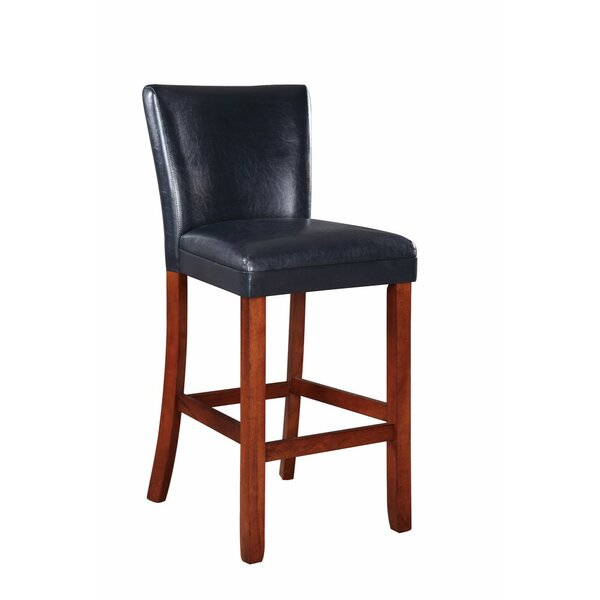 Gaier Faux Leather Bar Stool (Set of 2) by Red Barrel Studio