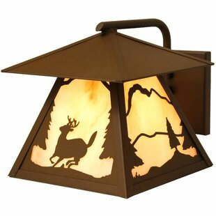 Timber Ridge 1-Light Outdoor Wall Lantern By Steel Partners Outdoor Lighting