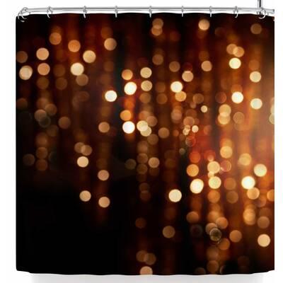 Susan Sanders Copper Gold Glitter Lights Shower Curtain