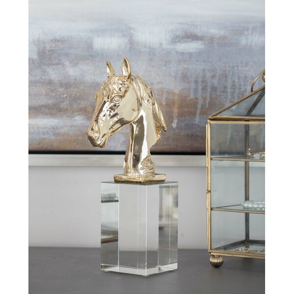 Polystone/Glass Horse Bust by Cole & Grey