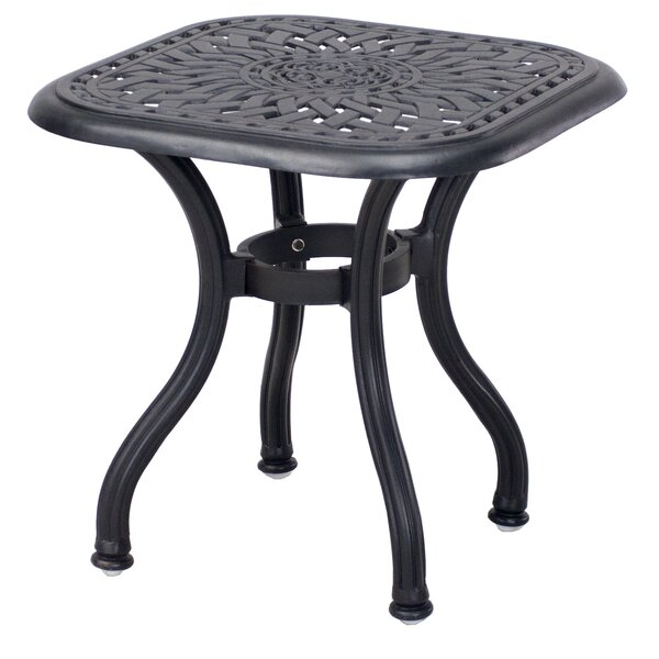 Goncalvo Aluminum Side Table by Fleur De Lis Living