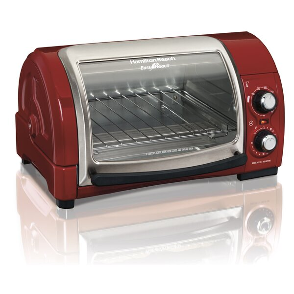 Easy Reach Toaster Oven with Roll-Top Door by Hamilton Beach
