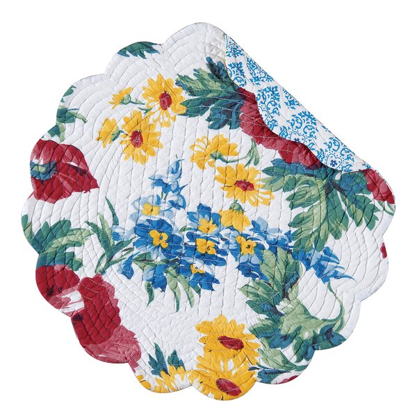 Silvester Reversible Round Quilt Placemat (Set of 6) by August Grove
