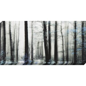Black and Blue Trees Painting on Wrapped Canvas by Red Barrel Studio
