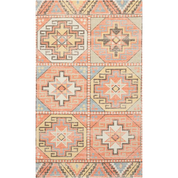 Peidmont Light Orange Area Rug by Mistana